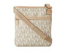 #saucy Michael Kors Jet Set Monogram Crossbody Women's Leather Handbag Purse White