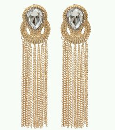 TRENDY GOLD TASSEL CLASSY  DROP EARRINGS.  #DropDangle
