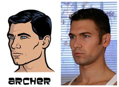 Jason Fitzgerald- the model for Sterling Archer See the Real Models for the Archer Characters -- Vulture Archer Season 6, Archer Tv Show, Archer Characters, Sterling Archer, Comedy Festival, Real Model, Sarah J Maas, Animation