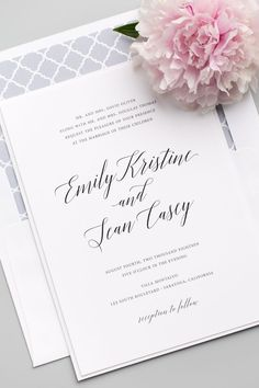 Shine Wedding Invitations Shine Wedding Invitations is an online stationery boutique specializing in clean, simple, and elegant wedding invitations. The invitation featured is their Garden Romance design. Shine is based in Rochester, NY and . Shine Wedding Invitations, Wedding Invitation Design, Wedding Stationary, Wedding Programs, Wedding Cards, Wedding Day, Dream Wedding, Wedding Stuff, Invitation Ideas