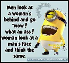 Men look at womens