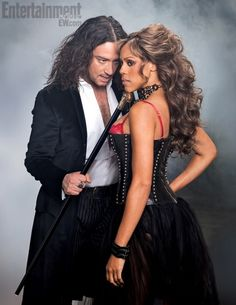 Constantine Maroulis & Deborah Cox in JEKYLL & HYDE the Musical. Great show. Dark, sexy and semi-steampunk.