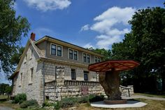 Post Office Oak and Museum, Council Grove, Flinthills National Scenic Byway.