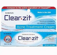 Amazon.com: Dr. Sheffield's 10% Benzoyl Peroxide Acne Treatment Maximum Strength Clear Zit: Beauty