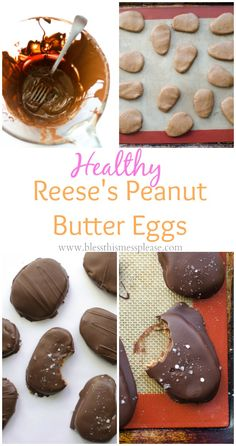 The most amazing Healthy Reese's Peanut Butter Eggs recipe (better than the real thing!)