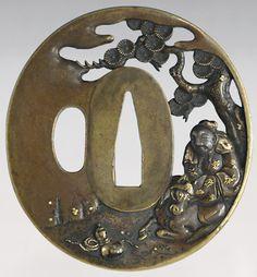 sukashi sentoku oval tsuba