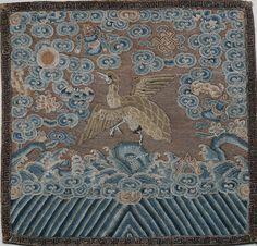 Mandarin Square rank badge (c. 1860), Qing Dynasty.