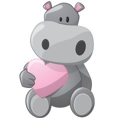 Grey Hippopotamus Cartoon Pictures Images Are On A Transparent Background