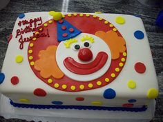 Happy Birthday Clown Cake | Flickr - Photo Sharing!