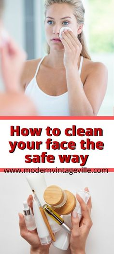 Double cleansing method is when you clean your skin in 2 steps. Step 1 - cleanse face with cleansing oil. Step 2 - cleanse face with water based cleanser. This way you remove all the dirt from your face and still protect your skin from damage and dryness. Love Your Skin, Wash Your Face, Facial Skin Care, Diy Skin Care, Anti Aging Tips, Cleansing Oil, Skin Problems, Cleanser, Water
