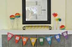 Craftily Ever After: Annalise's Rainbow Party... some very good ideas!