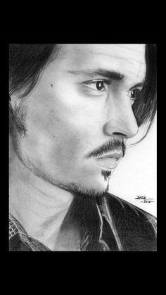 Johnny Depp pencil art