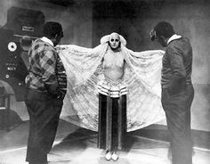 Brigitte Helm Costume Audition for Maria's Dance in Metropolis. (This was not the final choice for the Belt/Skirt that appeared in the Film.) 1926