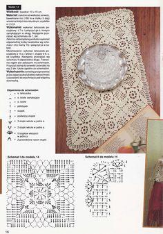 Bruk pil-tastene på tastaturet for å bytte bilder Crochet Square Patterns, Crochet Diagram, Crochet Squares, Crochet Granny, Filet Crochet, Crochet Motif, Crochet Doilies, Crochet Table Topper, Crochet Table Runner