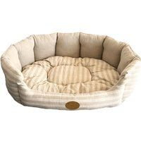 Cheap Best Pet Supplies - Lotus Bed for Pet Tan Stripes XL sale