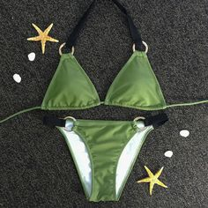 Green Triangle Bikni Set
