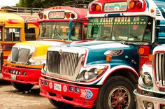 Ride across the country in STYLE in a Guatemalan chicken bus.