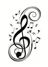 X Olivia Music Notes Wall Stickers Decals DIY Vinyl Removable Large Graphic Clef Wall Mural Decor Art for Teen Boys Girls Kids Children Bedroom Living Room Baby Nursery Home Decorations Music Tattoos, Cool Tattoos, Tatoos, Vinyl Wall Stickers, Wall Decals, Wall Mural, Wall Art, Tattoo Noten, Music Symbols