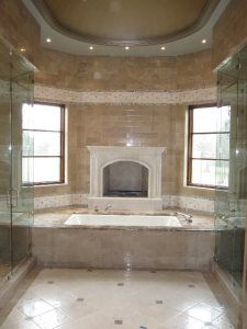 Pro #1958796 | GraniteWorks | Dallas, TX 75247 Master Bath Remodel, Glass Shower, Guest Bath, Corner Bathtub, Kitchen Remodel, Countertops, Dallas, Home, Vanity Tops