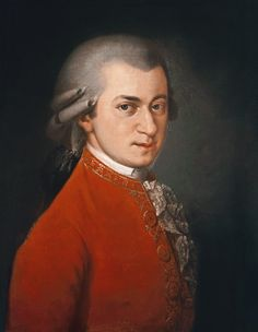 Bild:  Barbara Krafft - Portrait of Wolfgang Amadeus Mozart (1756-91), Austrian composer