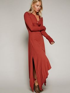 Legacy Henley Dress | Easy and comfortable henley style maxi dress with a cute…