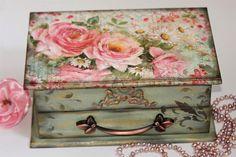 Makeup Wood Organizer Vintage Jewelry Chest Jewelry Box