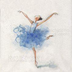 #ballerina #acquerello #illustrazione
