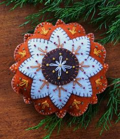 embroidery patterns for felt ornaments ornaments | Another great felt ornament. | Embroidery