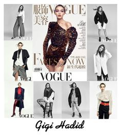 """Gigi Hadid Vogue China March 2017"" by valenlss ❤ liked on Polyvore"