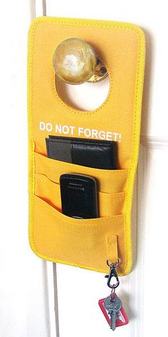 DO NOT FORGET DOOR HANDLE REMINDER Home Work Travel Memory Aid Organiser NEW
