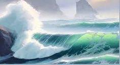 Resultado de imagen de ocean wave study watercolor