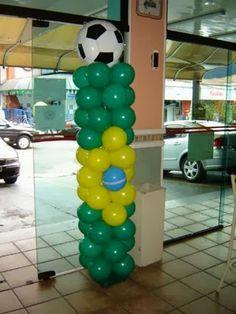 Fotos de Decoração para Copa 2014 7th Birthday, Birthday Party Themes, Happy Holidays, Brazil, Balloons, Diy, Decoration, Breakfast Nook Decor, School Parties