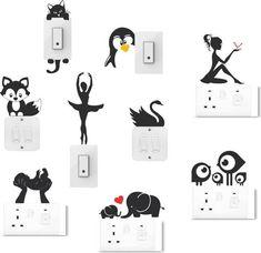Socket art designs - Home decor interests Simple Wall Paintings, Creative Wall Painting, Wall Painting Decor, Creative Walls, Diy Wall Art, Diy Painting, Wall Painting For Hall, Diy Room Decor Tumblr, Cute Diy Room Decor