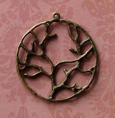 10 pcs Antique Bronze Tree Charms by SandraSupplies on Etsy, $3.15