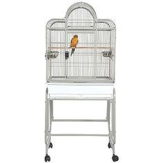 ThisSanta Fe Top Opening Parrot Cage with Stand is perfect for small Parrots, with lots of useful features includingperches, wide doors, feeders and seed catchers. Monk Parakeet, Budgie Parakeet, Cockatiel, Budgies, Parrots, Parrot Cages, Parrot Perch, Bird Cages, Conure