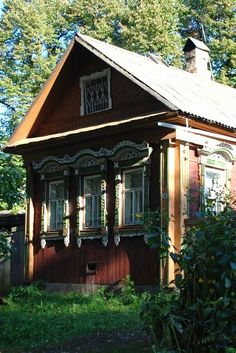 Russian wooden house in the countryside. #architecture