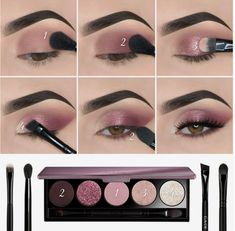 Eye Makeup Steps, Eye Makeup Art, Simple Eye Makeup, Natural Eye Makeup, Smokey Eye Makeup, Skin Makeup, Eyeshadow Makeup, Eyeshadow Palette, Natural Eyeshadow
