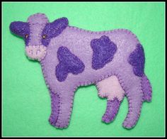 Items similar to PURPLE COW ORNAMENT-Magnet Combo-handmade felt embroidered-great gift idea for cow collectors for any time of year. on Etsy Cow Ornaments, Cat Christmas Ornaments, Christmas Puppy, Christmas Cats, Handmade Ornaments, Christmas Stockings, Cat Lover Gifts, Cat Gifts, Purple Cow