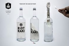 An Alcoholic Drink That Doubles As A Molotov Cocktail. Inspired by the ongoing protests and alcohol debate in Turkey, New York-based advertising creatives Manuel Urbanke and Maximilian Hoch have come up with an idea for a new drink based on raki, an anise-flavored hard alcoholic drink popular in Turkey.