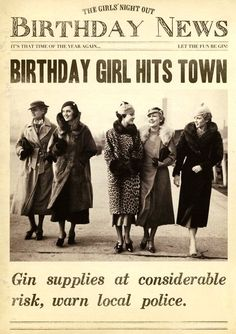 Birthday Quotes : Birthday girl hits town - Happy Birthday Funny - Funny Birthday meme - - Birth Day QUOTATION Image : Quotes about Birthday Description Funny card Birthday girl hits town Fleet Street Birthday Girl Quotes, Birthday Wishes Funny, Happy Birthday Images, Sister Birthday, Birthday Messages, Happy Birthday Cards, Humor Birthday, Happy Birthday Girl Funny, Funny Happy Birthday Quotes