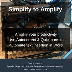 Simplify your productivity with Word, press Ctrl + Alt + Delete - Reboot Your Productivity. Visit www.donnahanson.com.au/shop2 for more details.