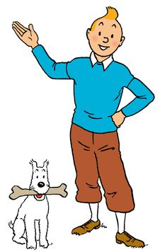 Tintin et Milou (a. Tintin and Snowy) Comic Character, Character Design, Captain Haddock, Herge Tintin, Comic Art, Comic Books, Lucky Luke, Fox Terrier, Vintage Comics