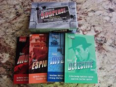 READERS DIGEST A SUITCASE OF SUSPENSE  NEW  4 PAPERBACK BOOKS VINTAGE