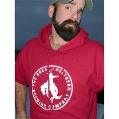 Keep cozy with this super comfortable hoodie!  Facial hair not included.