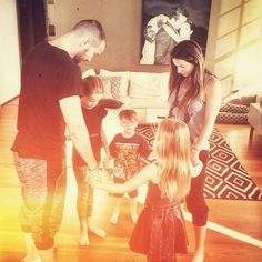 All to Jesus! I really like their photos like this one.. The Lentz praying together.. Awesome and cute! Carl Lentz is pastor at Hillsong Church NYC.