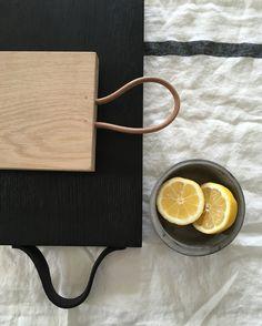Black Charred Oak Chopping Board by Wild and Wood