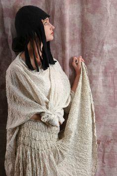 silk linen ecotton slow fashion artisanal layered look