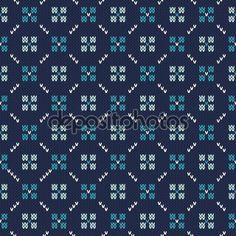 Baixar - Padrão de malha sem costura. Fair Isle estilo Design suéter de tricô — Ilustração de Stock #111283632