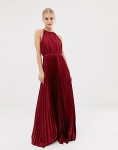 Chi Chi London high neck satin maxi dress in oxblood at ASOS. Shop this season's must haves with multiple delivery and return options (Ts&Cs apply). Chi Chi, Beautiful Red Dresses, Pretty Dresses, Satin, Bordeaux, Asos, Going Out Dresses, Mode Online, Maxi Dresses