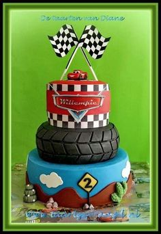 Cars  - Cake by Diane Gunst